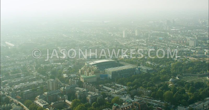London Aerial Footage of Chelsea Football Ground