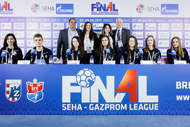 Media Team during the Final Tournament - Final Four - SEHA - Gazprom league, Closing Press Conference, Belarus, 09.04.2017, M...