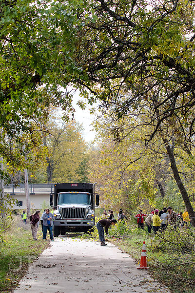 Iowa River Trail Cleanup, October 19, 2014