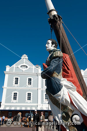 Sailor statue and African Trading Post, Victoria & Alfred Waterfront, Cape Town, South Africa
