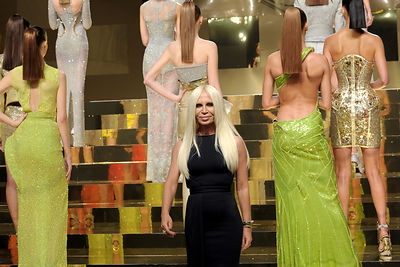 Donatella Versace  Fashion Designer .