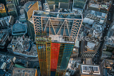 Aerial view of the Leadenhall Building, London