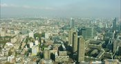 London Aerial Footage of Barbican and St Paul's Cathedral.