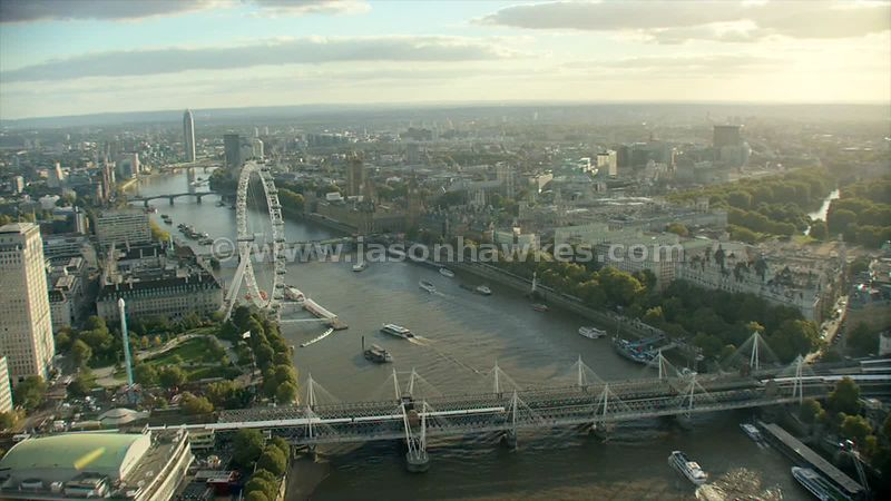 Aerial footage of Central London