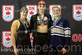 200m Freestyle Women Awards. Ontario Junior International, Day 1, December 14, 2018