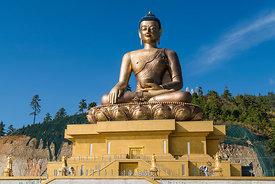 Buddha Dordenma, a golden great buddha in Thimphu, Bhutan.