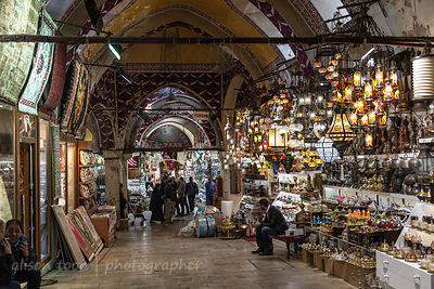 Shop keepers and lamps, Grand Bazaar