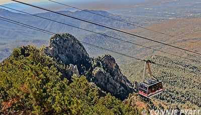 The Sandia Peak Tramway is an aerial tramway located adjacent to Albuquerque, New Mexico, USA. It stretches from the northeas...