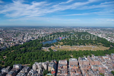 London, aerial view of Hyde Park