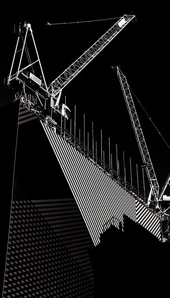 Cranes on construction site | Mayfair London | 2015