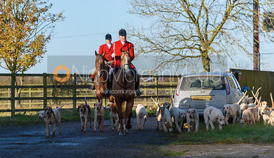 The Cottesmore Hunt at Waterloo Lodge 19/11