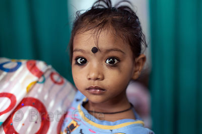 Girl at a health clinic in Howrah, India