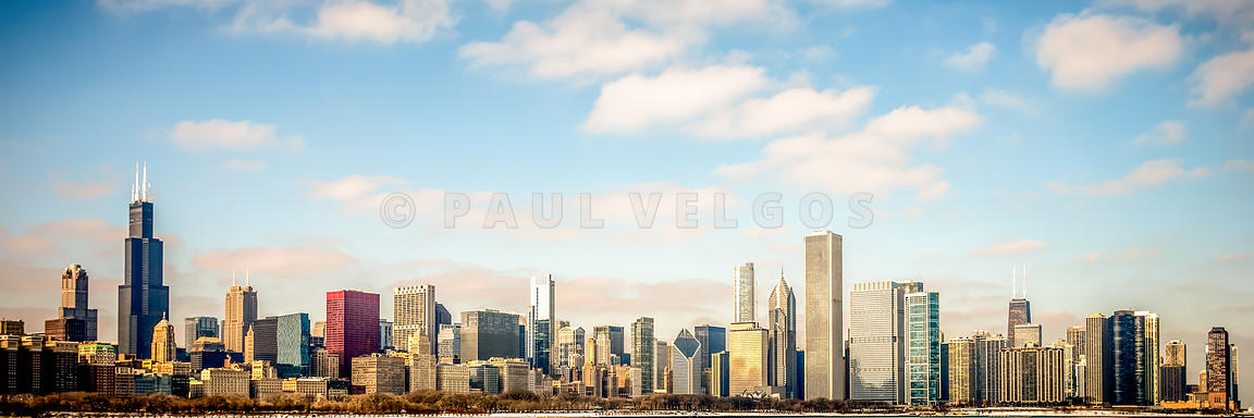 High Resolution Large Photo of Chicago Skyline