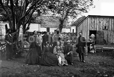 US Sanitary Commission nurses and officers during Civil War