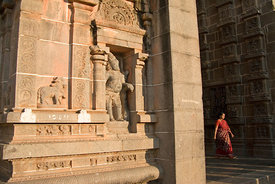 Pilgrims enter the Nataraja Temple