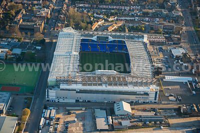 Aerial view of White Hart Lane stadium, Tottenham, London