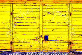 Abandoned Yellow Door