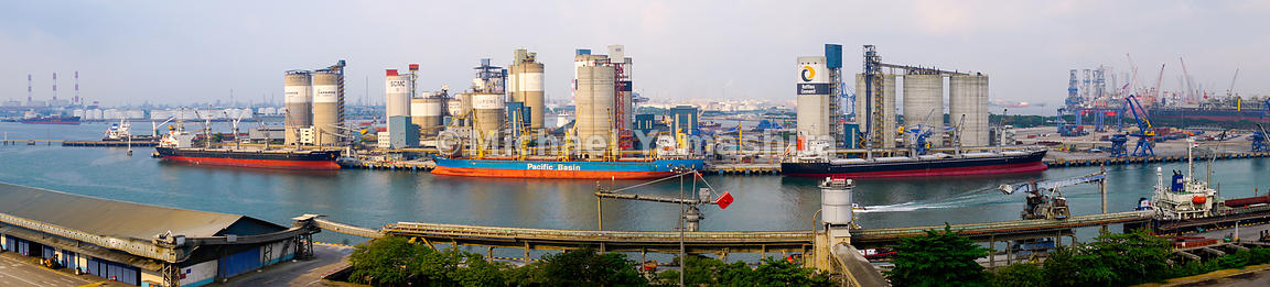 Jurong Port is home to the world's largest common user cement terminal in the world. Spanning a total of 19 silos over 5 hect...