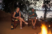 Campfire at Kasaka River Lodge, Lower Zambezi National Park, Zambia