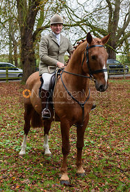 Bruce McKim at the meet. The Cottesmore Hunt at Somerby