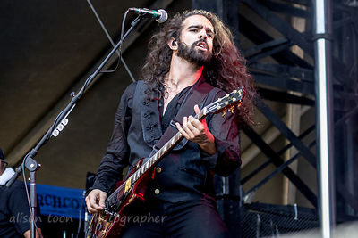 Ryan Patrick of Otherwise performing at Aftershock 2014