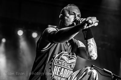Ivan Moody, vocals, Five Finger Death Punch, Aftershock 2013
