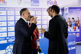 Sinisa Ostoic during the Final Tournament - Final Four - SEHA - Gazprom league, Closing Press Conference, Belarus, 09.04.2017...