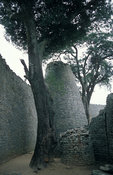 Great Zimbabwe ruins, Conical tower in the Great Enclosure from the 11th century, Masvingo, Zimbabwe