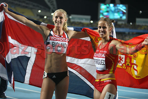 Hannah England (GBR) and Natalia Rodriguez (SP)