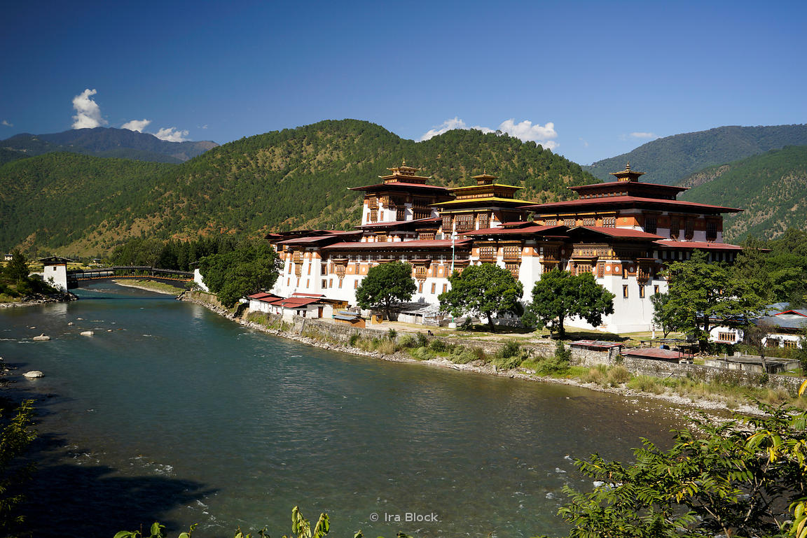 "The Punakha Dzong, also known as Pungtang Dechen Photrang Dzong (meaning ""the palace of great happiness or bliss"") in Punakha..."