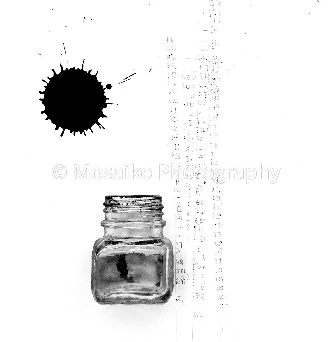 ink pot and letters