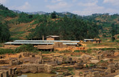 Traditional brick making site, Rwanda