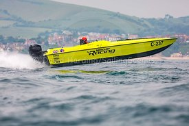 Mercury Racing, C-237, competing in the Fortitudo Poole Bay 100 Offshore Powerboat Race, 10th June 2018, 20180610094