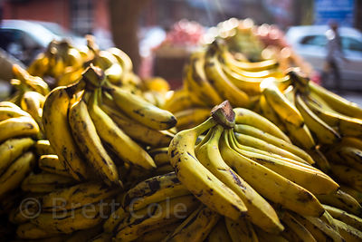 Bananas for sale at a market in Paharganj, Delhi, India