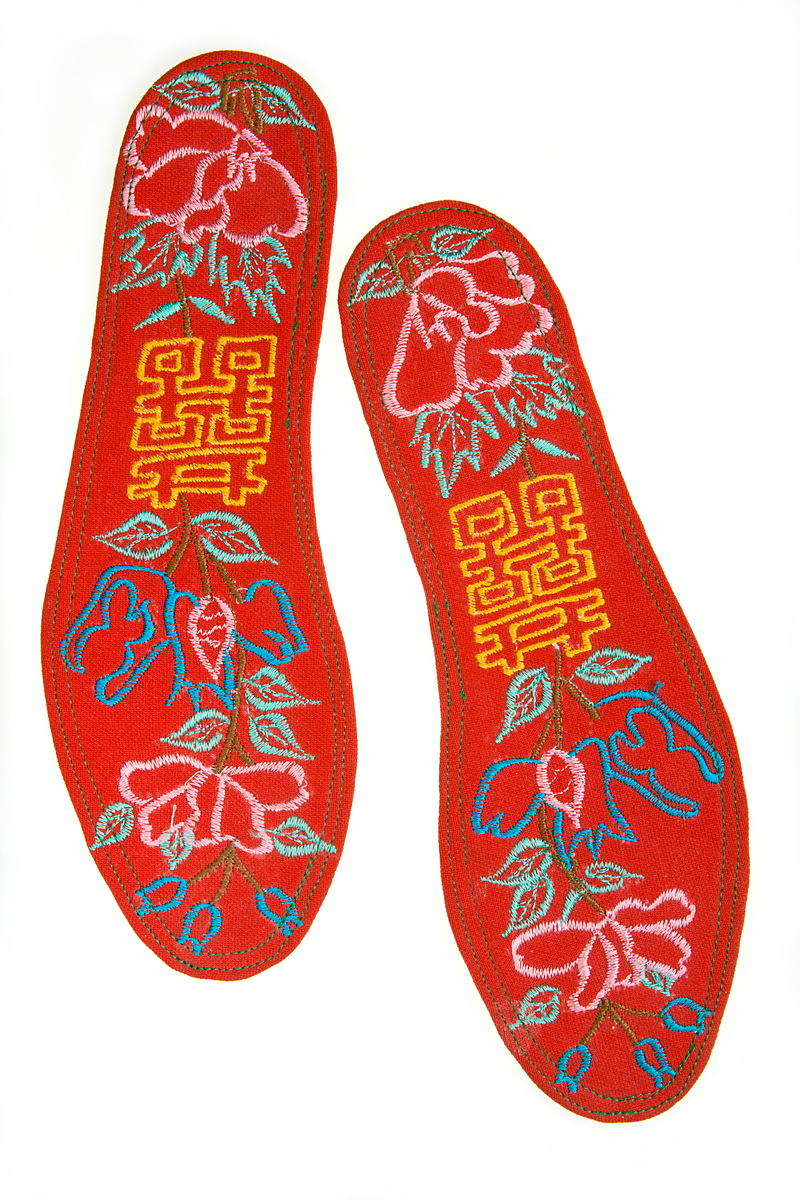 Embroidered insoles