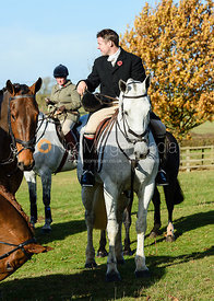 James Holliday at the meet. The Belvoir Hunt at Debdale Farm 10/11