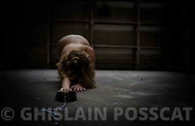 bdsm pictures, bdsm photos - bdsm photo nude woman necklace on the floor