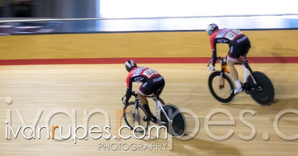 Junior Men Sprint 1-2 Final. Ontario Track Championships, Mattamy National Cycling Centre, Milton, On, March 4, 2017