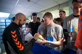 Timur Dibirov during the Final Tournament - Final Four - SEHA - Gazprom league, Kids day in Brest, Belarus, 08.04.2017, Manda...