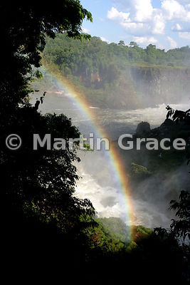 Rainbow over the Rio Iguazu Inferior, Iguassu (Iguazu) Falls, Argentina