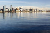 Liverpool Waterfront with reflections