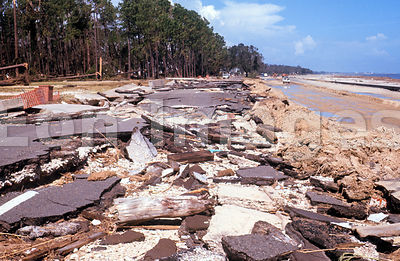 Debris from Hurricane Camille in Biloxi