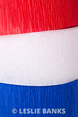 Red White and Blue Crepe Paper Background