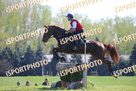 István VARGA (HUN) and GIDRAN XXVII-4 during National Qualifier Eventing Competition, cross country, 2018 April 21 - Bábolna,...