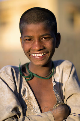 Smiling boy from a low-income family, Pushkar, Rajasthan, India