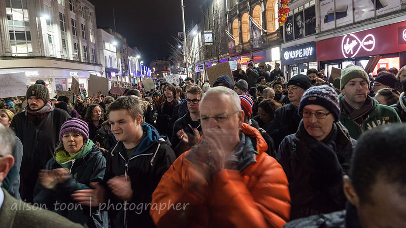 Leicester anti-Trump demonstration