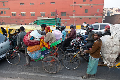 Traffic near the New Delhi railway station, Delhi, India