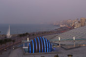The Bibliotheca Alexandrina and the planetarium at the Corniche, Alexandria, Egypt