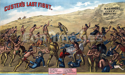 Patent medicine ad depicting Custer's Last Stand