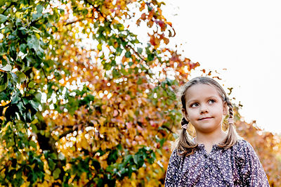 Younger Nordic girl and pear trees